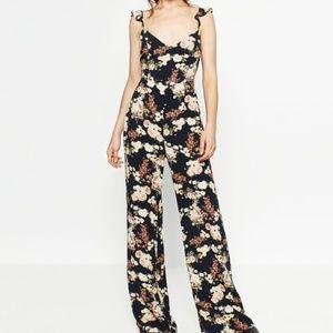 Zara long printed jumpsuit